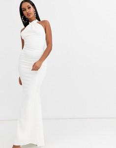 Свадебное платье с американской проймой Lipsy-Белый