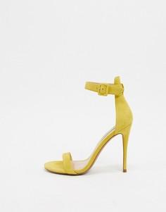 Желтые кожаные босоножки на каблуке-шпильке Steve Madden-Желтый