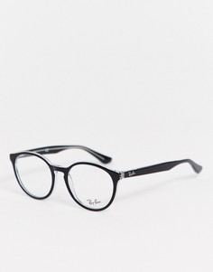 Круглые очки с прозрачными стеклами Ray-Ban 0RX5380-Черный