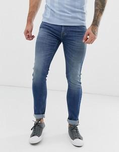 Синие джинсы скинни Lee Malone-Синий