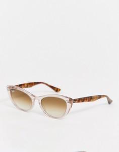Розовые солнцезащитные очки Ray-Ban 0RB4314N Nina-Розовый