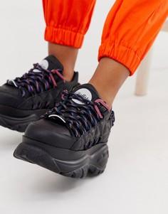 Черные кроссовки на шнуровке Buffalo London-Черный