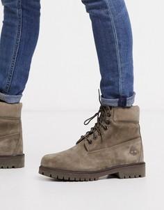 Премиум-ботинки из нубука оливкового цвета Timberland 6-Зеленый