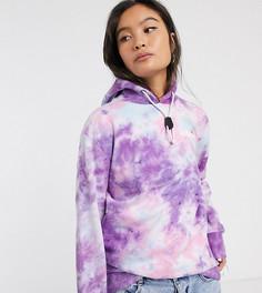 Oversize-худи с логотипом и шнурком Ellesse-Фиолетовый