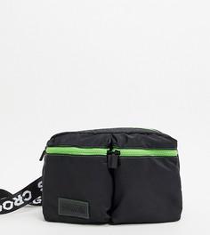 Черная сумка-кошелек на пояс Crooked Tongues-Черный