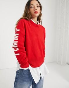 Свитшот с длинными рукавами Tommy Jeans-Красный