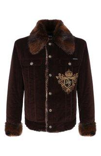 Куртка с меховой отделкой Dolce & Gabbana