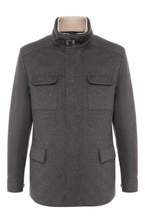 Кашемировая куртка на молнии с воротником-стойкой Loro Piana