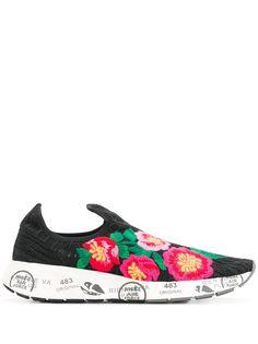 Premiata кроссовки с вышитыми цветами