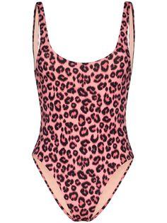 Les Girls Les Boys купальник с леопардовым принтом и U-образным вырезом