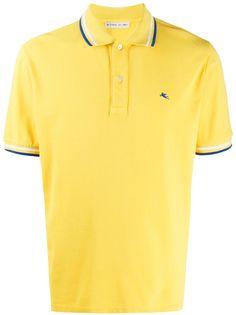 Etro рубашка-поло с отделкой в полоску