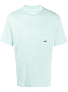 Anglozine футболка с воротником-стойкой и карманом