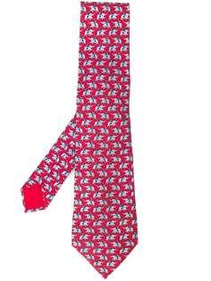 Hermès Pre-Owned галстук с принтом