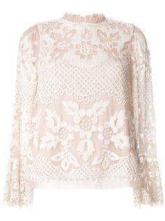 Needle & Thread кружевная блузка с оборками