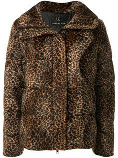 Unreal Fur пуховик с леопардовым принтом