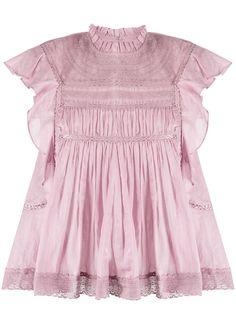 Isabel Marant Étoile блузка Vivia без рукавов с кружевными вставками