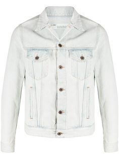 Off-White джинсовая куртка 3D Pencil узкого кроя