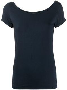 Aspesi однотонная приталенная футболка