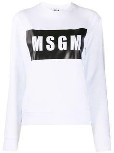 MSGM logo box sweatshirt