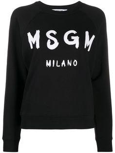 MSGM brushstroke logo sweatshirt