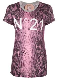 Nº21 футболка со змеиным принтом