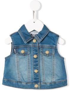 Moschino Kids джинсовая куртка без рукавов