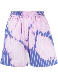 MSGM bleached effect shorts