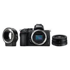 Фотоаппарат NIKON Z50 kit ( Nikkor Z DX 16-50mm VR + FTZ), черный [voa050k004]