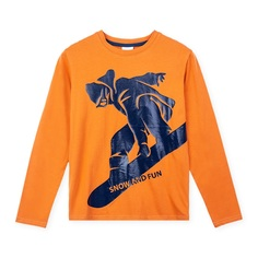 Джемпер Play Today Mountain adventure, цвет: оранжевый/синий