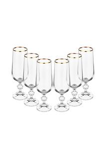 Бокал для шампанского 6 шт BOHEMIA CRYSTAL