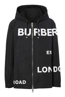 Черная куртка с логотипами Burberry
