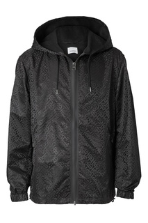 Черная куртка с орнаментом Burberry