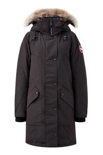 Черная парка с накладными карманами Canada Goose
