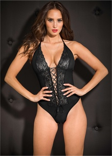 Эротическое белье Стринг-боди открытого дизайна Bonprix