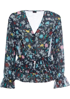 Блузки с длинным рукавом Блузка из шифона с принтом Bonprix