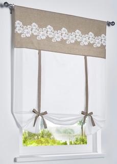 Римские шторы Римская штора на лентах с цветочным принтом Bonprix