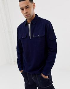 Темно-синяя рубашка с молнией Penfield chelan-Темно-синий