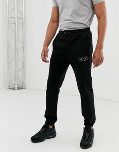 Спортивные штаны с манжетами и логотипом BOSS-Черный