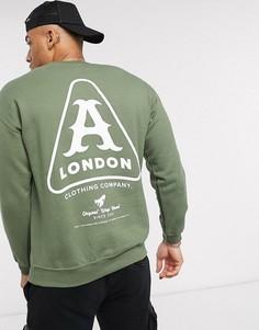 Свитер с принтом A London-Зеленый
