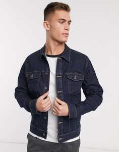 Темная джинсовая куртка French Connection-Синий