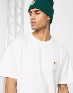 Белая футболка Carhartt WIP Chase-Белый