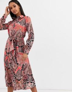 Платье миди с принтом пейсли Lipsy-Мульти