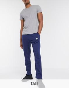 Темно-синие прямые джоггеры Nike Club Tall-Темно-синий