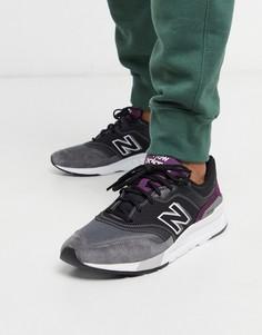 Фиолетовые кроссовки New Balance 997H-Черный