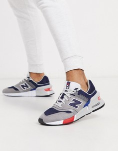Темно-синие кроссовки New Balance 997S-Темно-синий