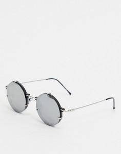 Круглые солнцезащитные очки с зеркальными стеклами Spitfire-Черный