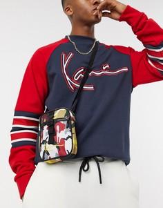 Красная сумка с камуфляжным принтом Karl Kani-Мульти