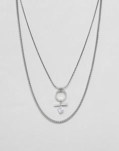 Ожерелье со стразами Nylon-Серебряный