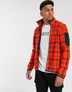 Флисовая куртка в клетку Tom Tailor-Красный