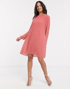 Розовое платье мини Vila-Розовый